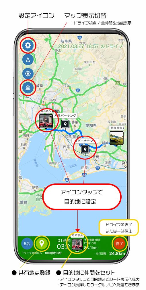 MG-DRIVE画面